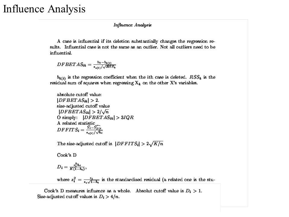 Influence Analysis