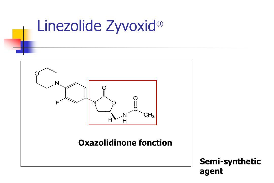 Linezolide Zyvoxid  Oxazolidinone fonction Semi-synthetic agent