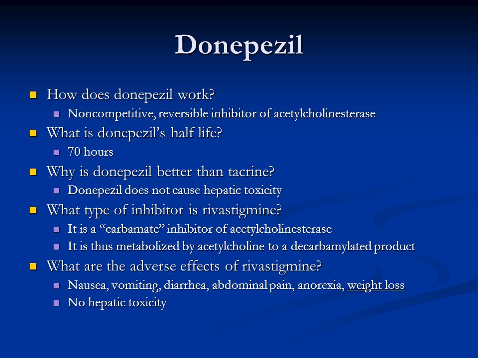 Donepezil How does donepezil work.How does donepezil work.
