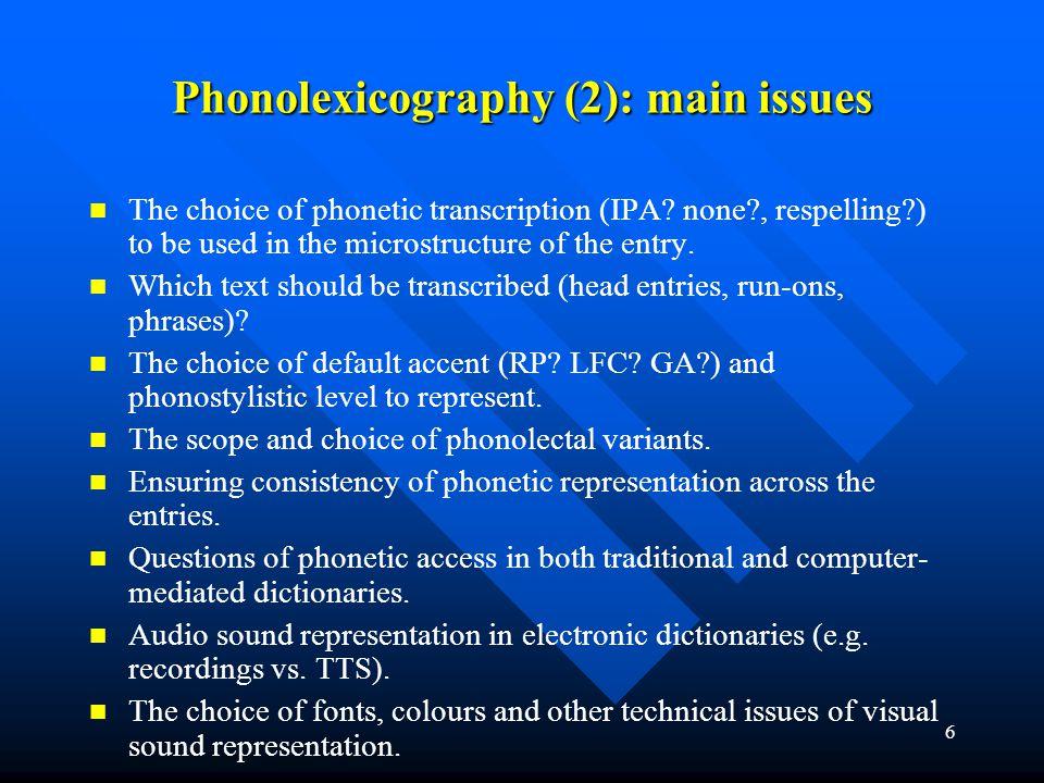 17 Phonetic representation (5): para-phonetic information, e.g.