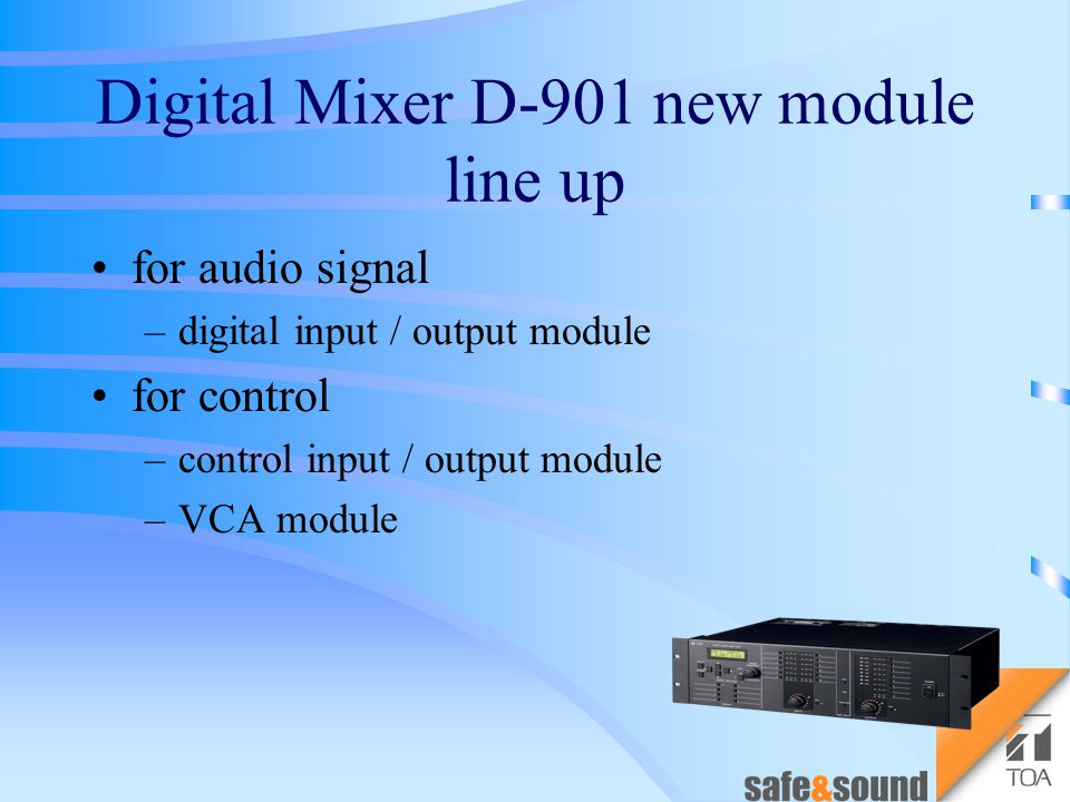 Digital Mixer D-901 New Module Line Up