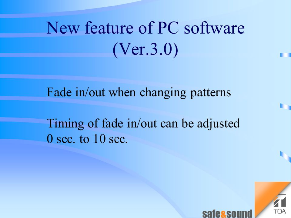 The Ver.3.0 of firmware and PC software will be available at the same time.