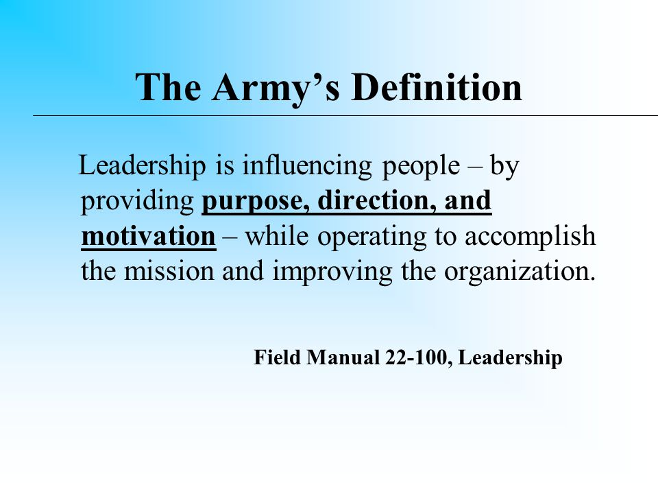 General George S. Patton, Jr. Leadership is the thing that wins battles.