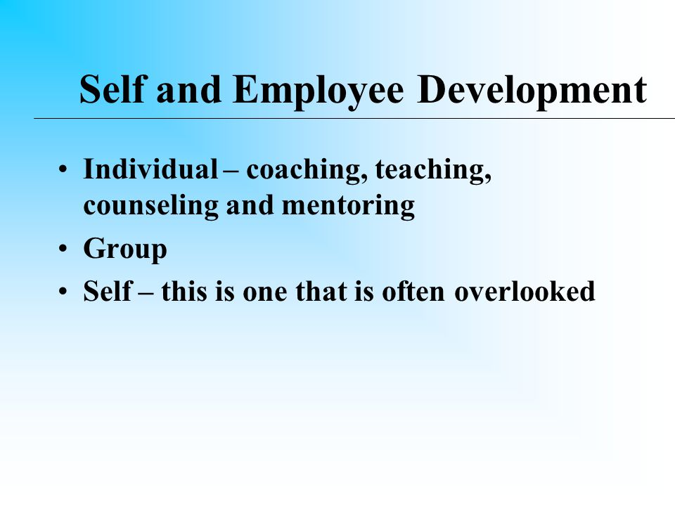 Responsibility A leader accepts responsibility for his/her actions A leader accepts responsibility for the decisions of the boss A leader accepts responsibility for the actions of his/her employees but …… passes on the credit to them for the success of the mission