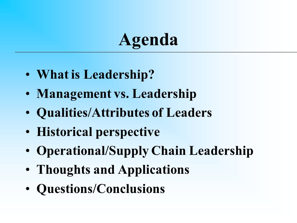 Bottom Line Up Front You can achieve operational excellence through the effective use of leadership.