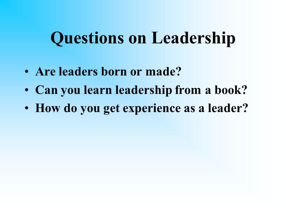 Agenda What is Leadership. Management vs.