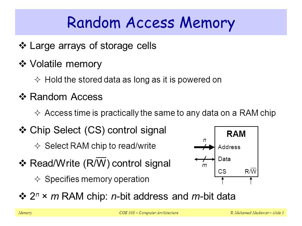MemoryCOE 308 – Computer Architecture© Muhamed Mudawar – slide 54 Larger Size and Higher Associativity  Increasing cache size reduces capacity misses  It also reduces conflict misses  Larger cache size spreads out references to more blocks  Drawbacks: longer hit time and higher cost  Larger caches are especially popular as 2 nd level caches  Higher associativity also improves miss rates  Eight-way set associative is as effective as a fully associative