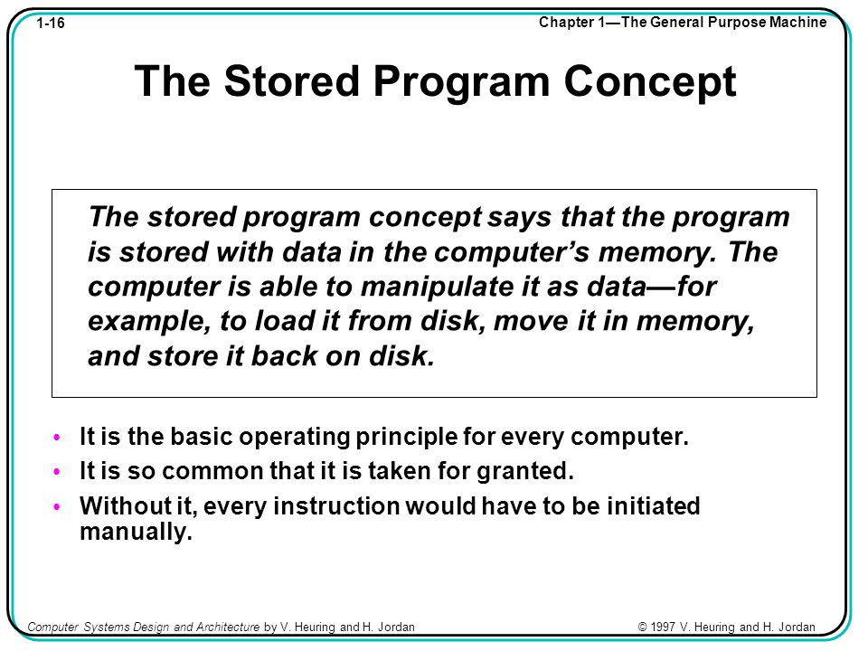 1-16 Chapter 1—The General Purpose Machine Computer Systems Design and Architecture by V.