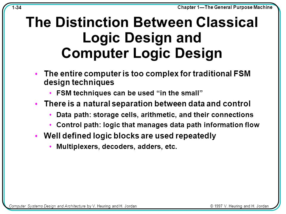 1-34 Chapter 1—The General Purpose Machine Computer Systems Design and Architecture by V.