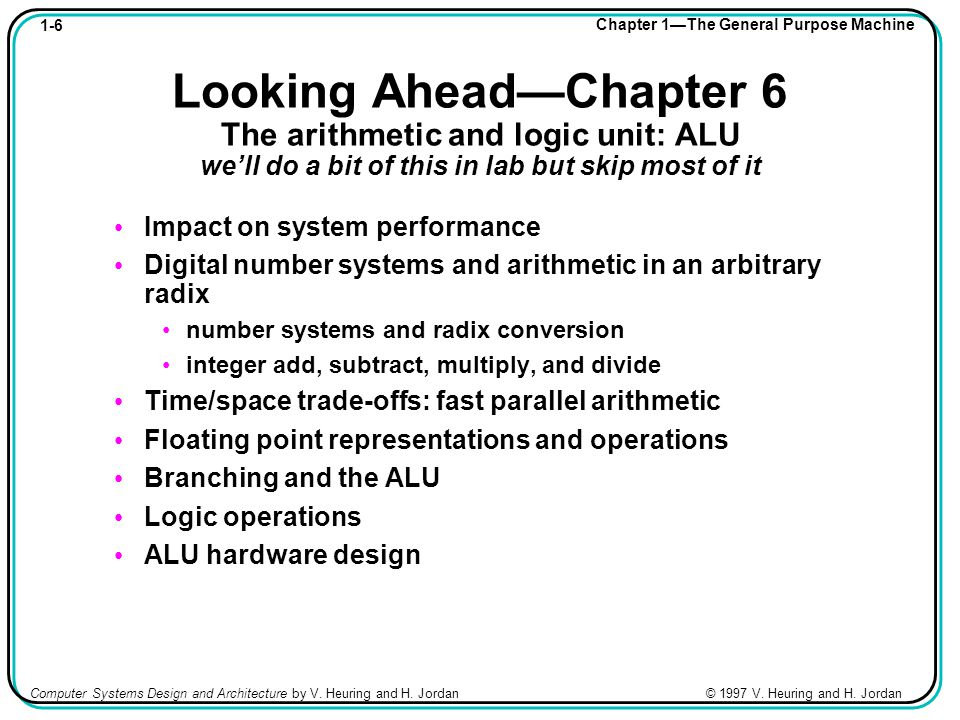 1-27 Chapter 1—The General Purpose Machine Computer Systems Design and Architecture by V.