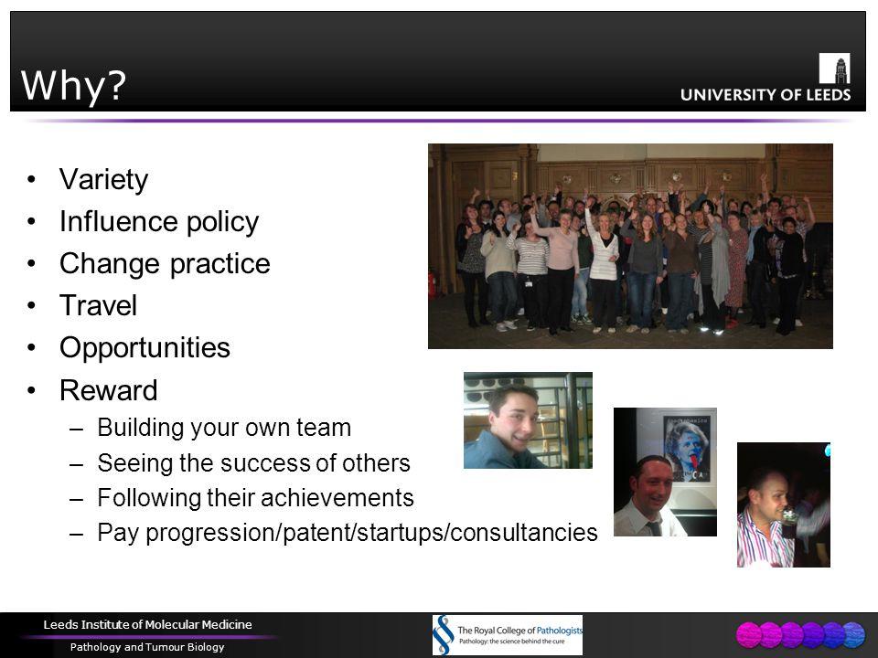 Leeds Institute of Molecular Medicine Pathology and Tumour Biology Why.