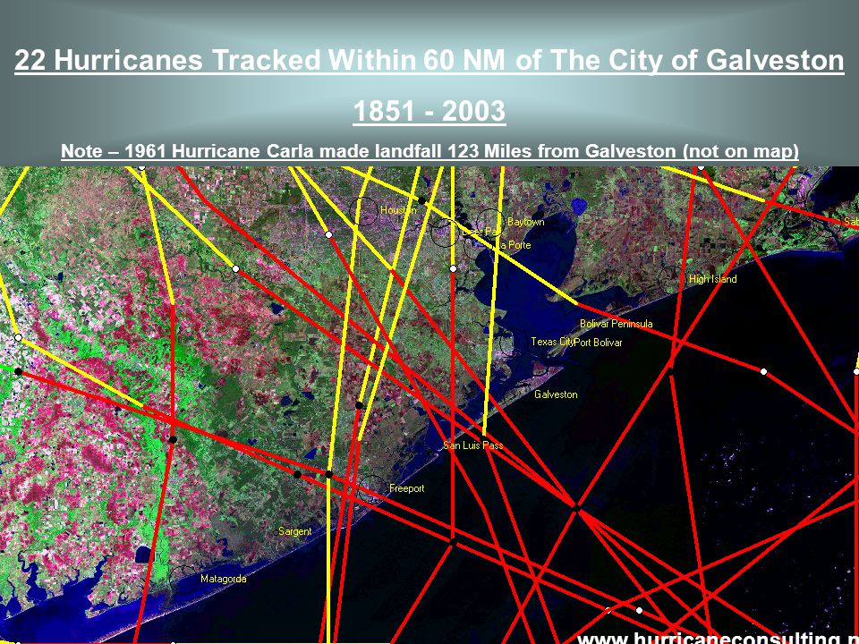 Hurricane of November 1527 This is the first record known of a hurricane along the Texas coastline Destroyed a merchant fleet on Galveston Island.