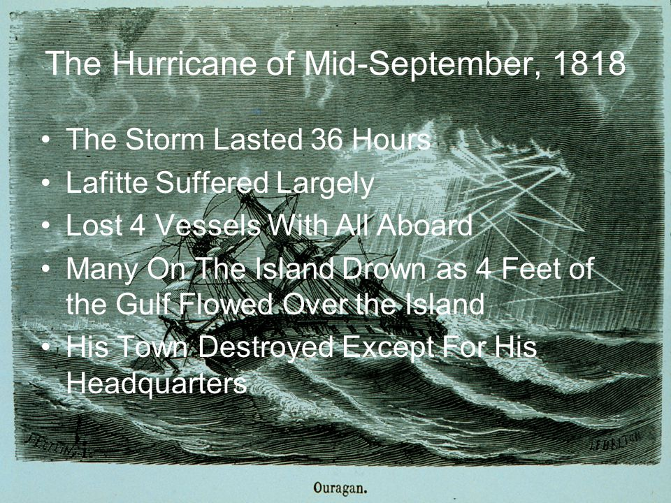 October 6th, 1837: Racer s Storm The first recorded storm to rake the entire coast was Racer s Storm on October 5th, named for a British sloop of war which encountered the storm in the extreme Northwest Caribbean on September 28th.
