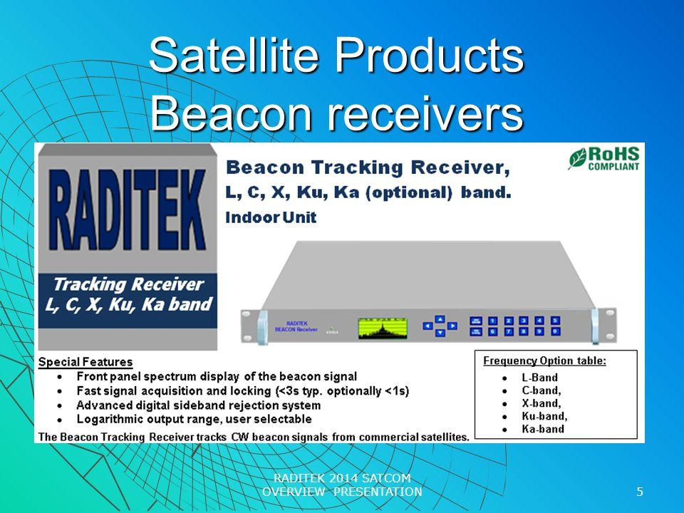 Satellite Products Beacon receivers 5 RADITEK 2014 SATCOM OVERVIEW PRESENTATION