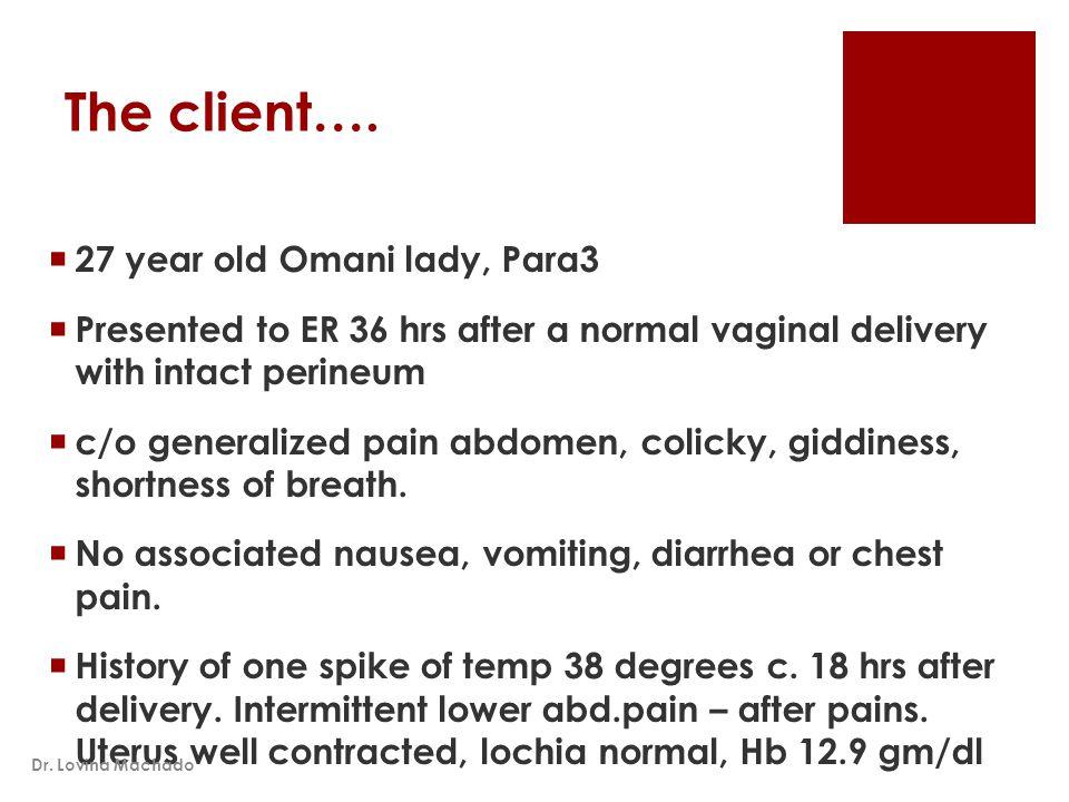 The client….