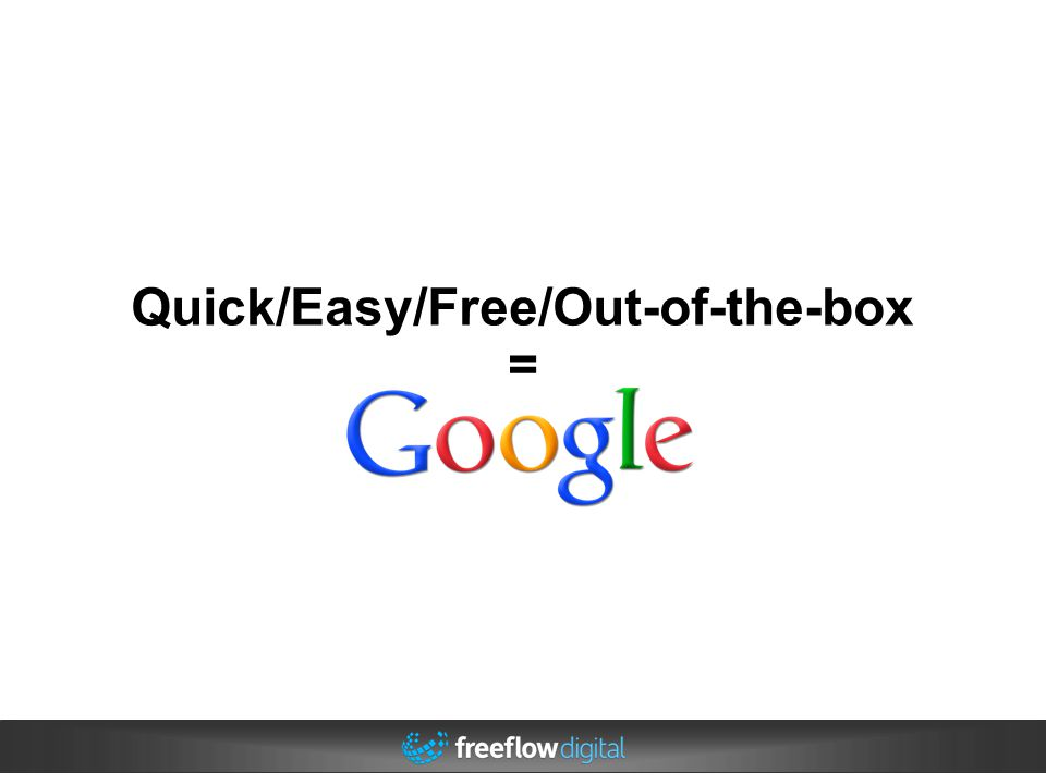 Quick/Easy/Free/Out-of-the-box =