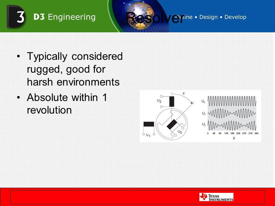 Motor Development Kit Feedback –Encoder –Resolver Communications –RS-232 –USB –CAN Digital I/O –Inputs (4) –Outputs (3) Power Board Interface –PWM (6) –Motor Phase Current Sense (3) –DC Bus Current Sense –DC Bus Voltage Sense –Power Board Fault signal –5V