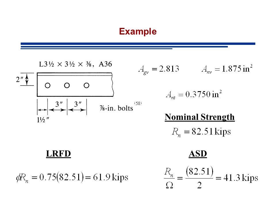 Nominal Strength LRFDASD