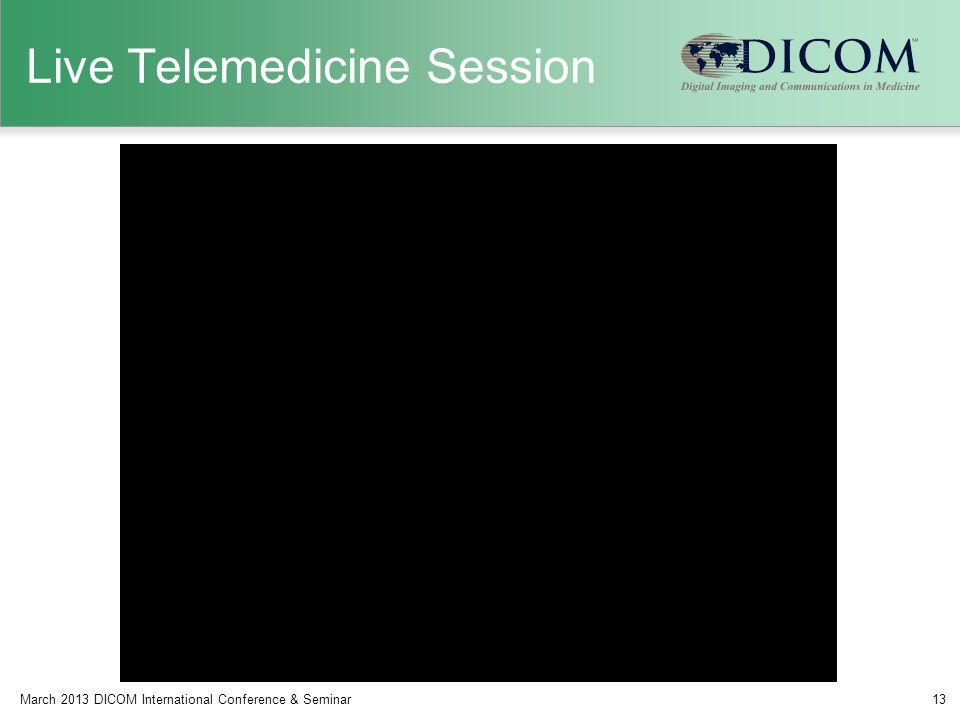 Live Telemedicine Session March 2013 DICOM International Conference & Seminar13