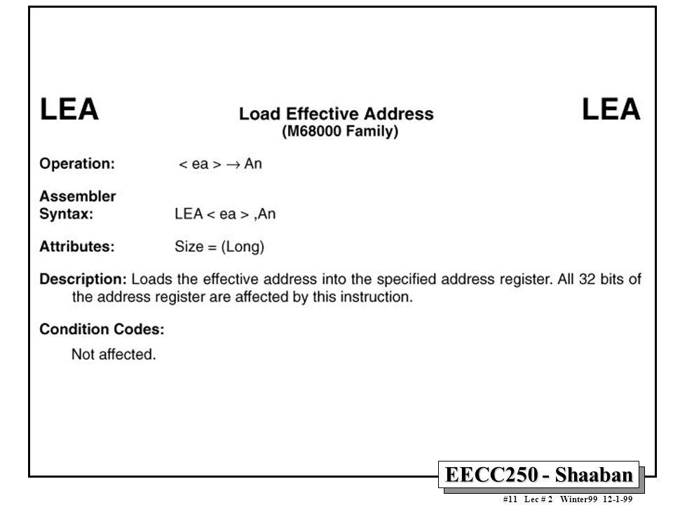 EECC250 - Shaaban #11 Lec # 2 Winter99 12-1-99