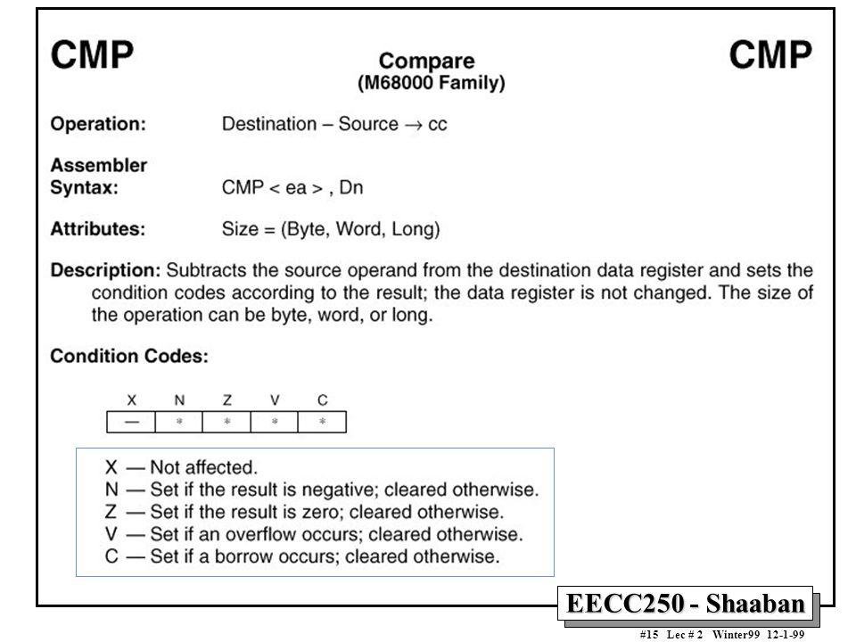 EECC250 - Shaaban #15 Lec # 2 Winter99 12-1-99