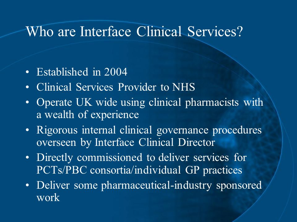 Who are Interface Clinical Services.