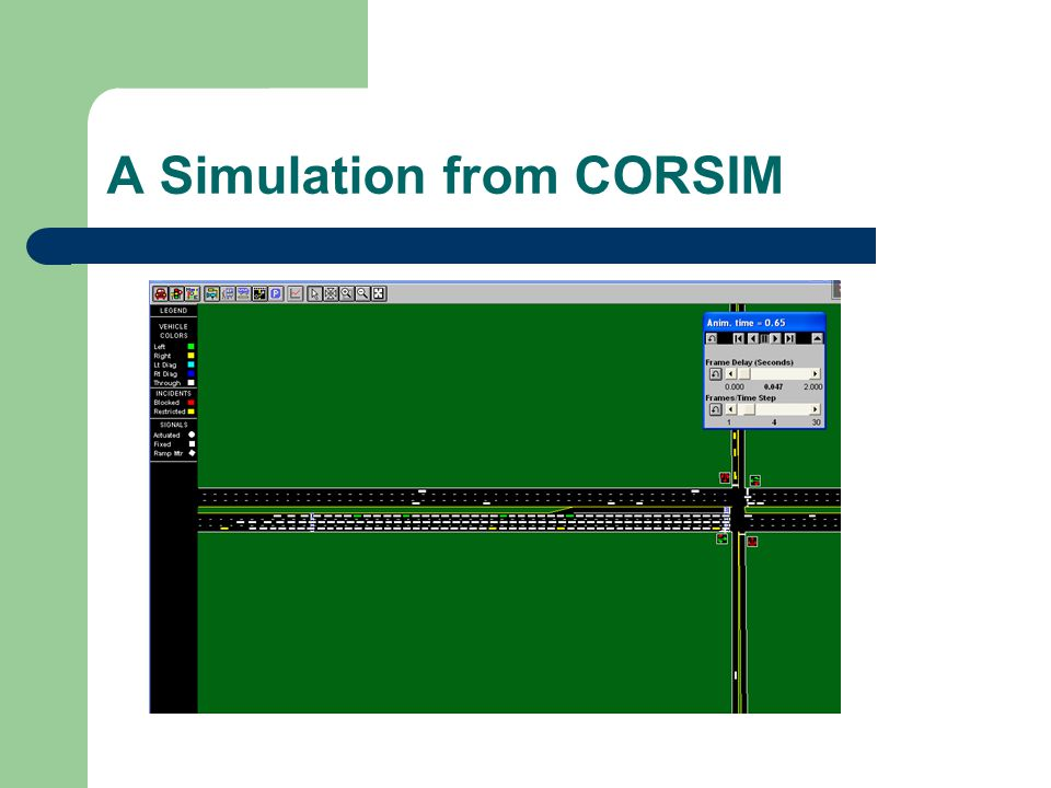 A Simulation from CORSIM