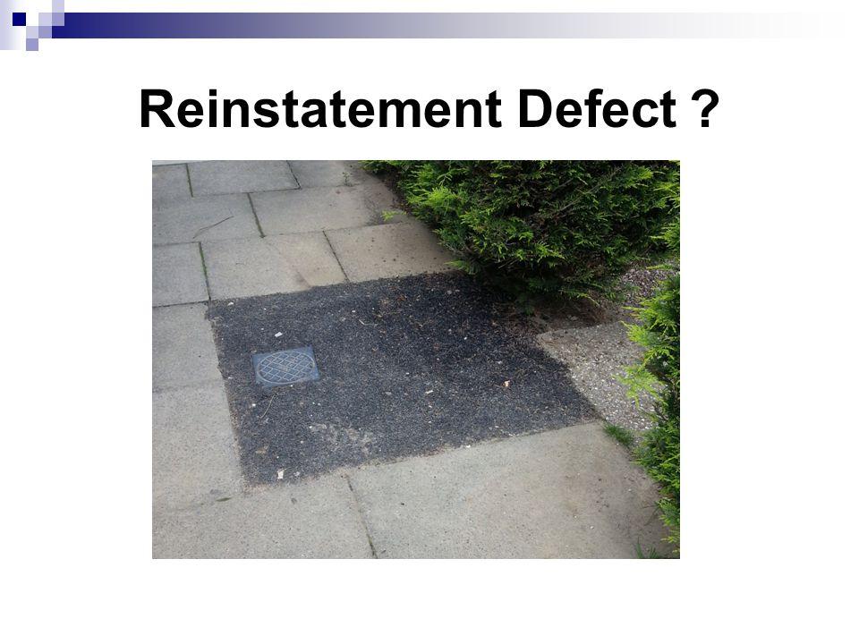 Reinstatement Defect ?