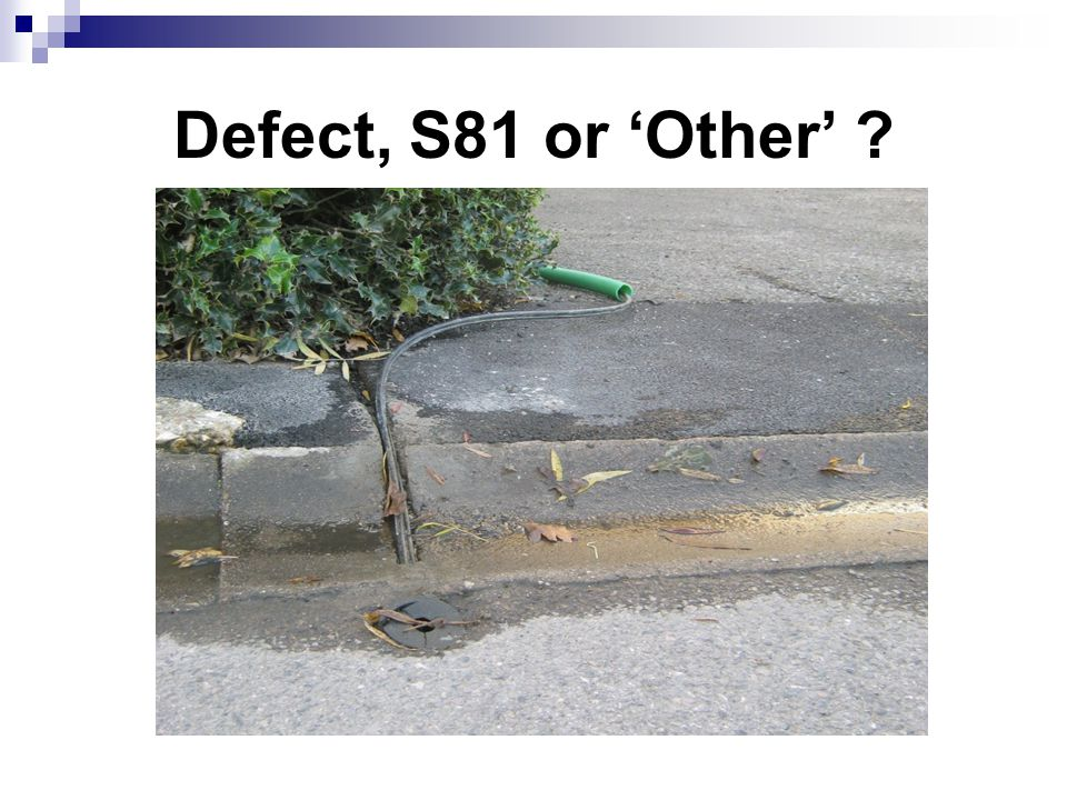 Defect, S81 or 'Other' ?