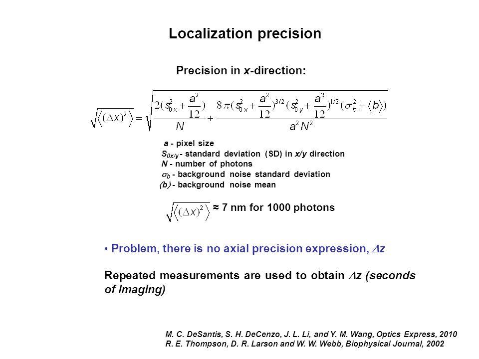 Localization precision M. C. DeSantis, S. H. DeCenzo, J.