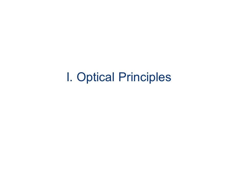 I. Optical Principles