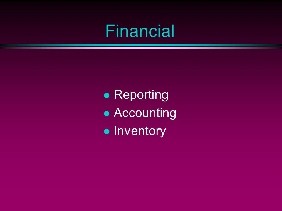 Financial Reporting Accounting Inventory