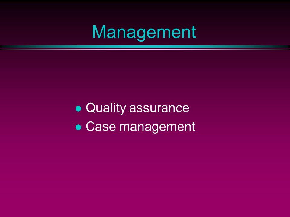 Management Quality assurance Case management