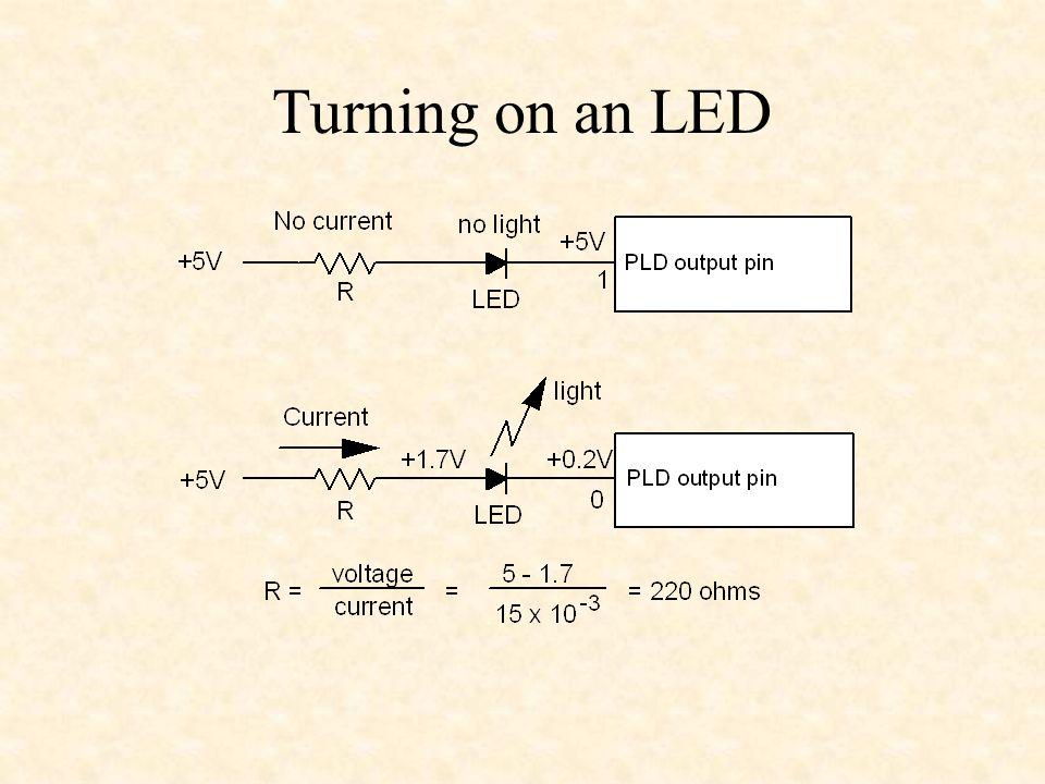 Turning on an LED