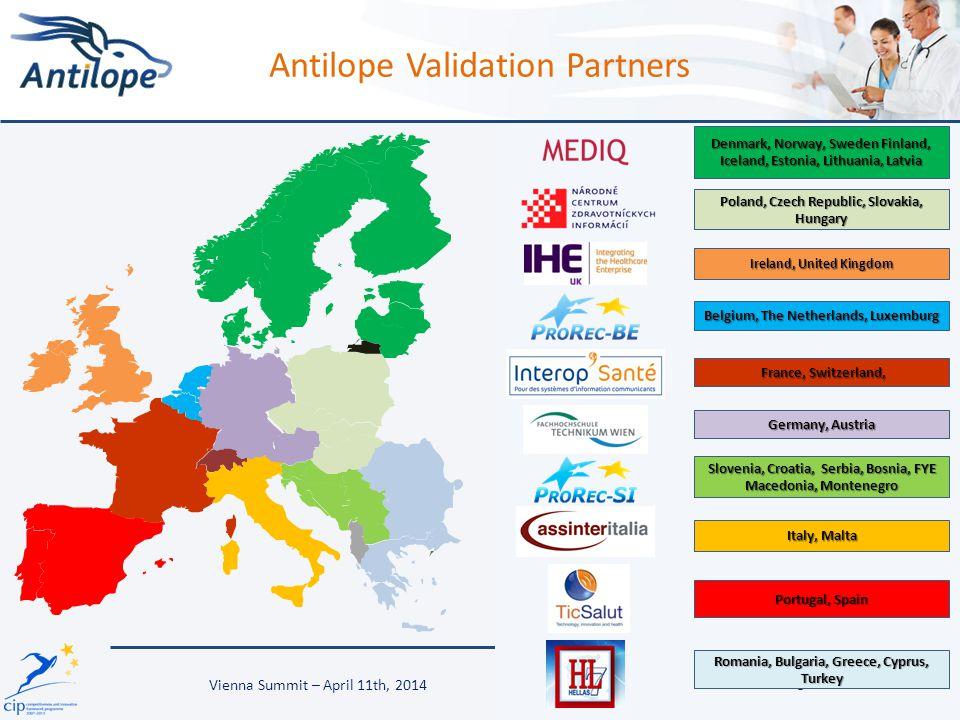 Antilope Validation Partners 3 Denmark, Norway, Sweden Finland, Iceland, Estonia, Lithuania, Latvia Poland, Czech Republic, Slovakia, Hungary Ireland,