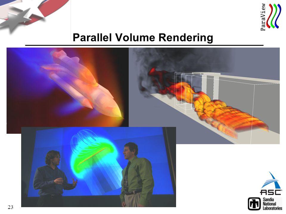 23 Parallel Volume Rendering