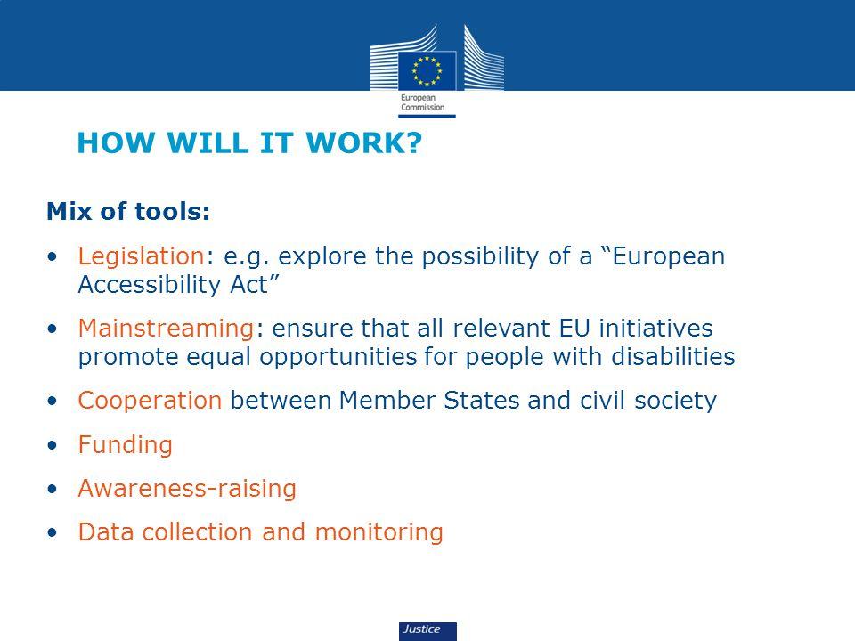 HOW WILL IT WORK.Mix of tools: Legislation: e.g.