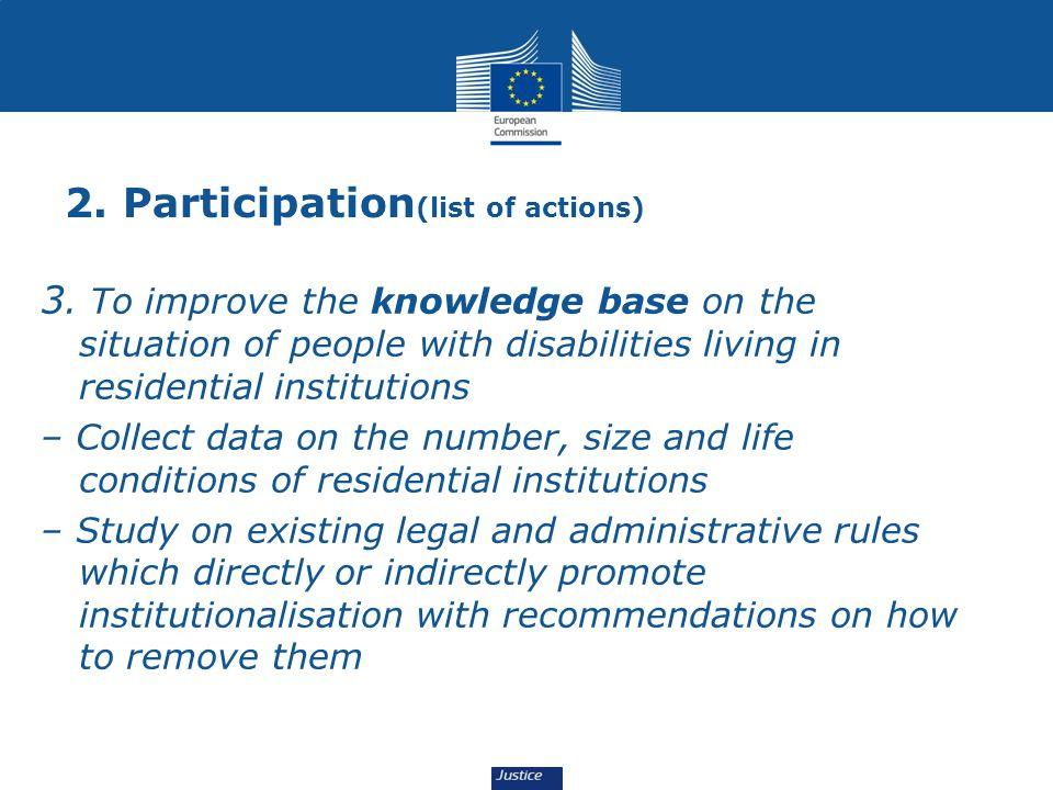 2.Participation (list of actions) 3.