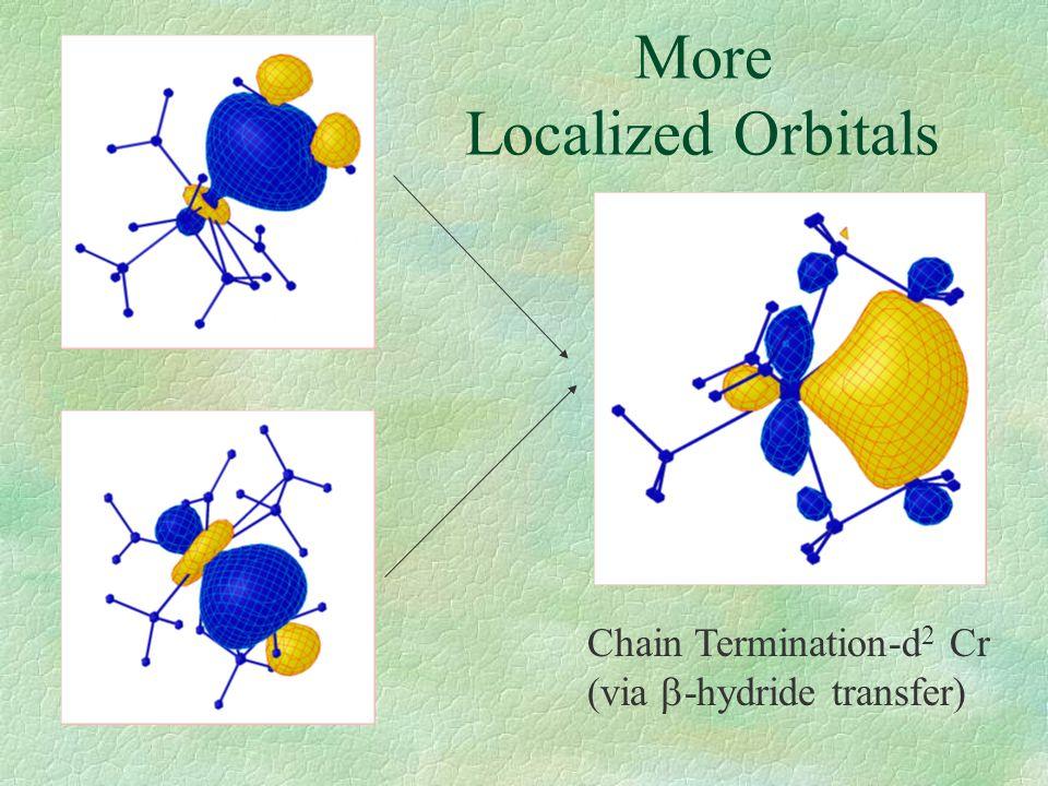 More Localized Orbitals Chain Termination-d 2 Cr (via  -hydride transfer)