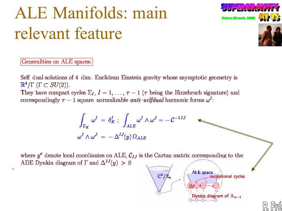 ALE Manifolds: main relevant feature
