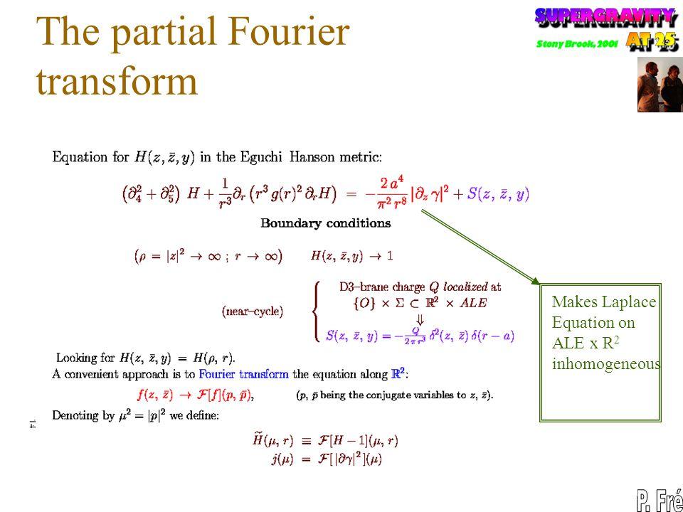 The partial Fourier transform Makes Laplace Equation on ALE x R 2 inhomogeneous