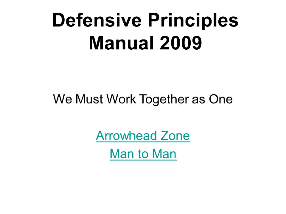 Arrowhead Zone Against a 3-1-2 X X X XX X M2 M3 M1 D3 D1 Back to Home