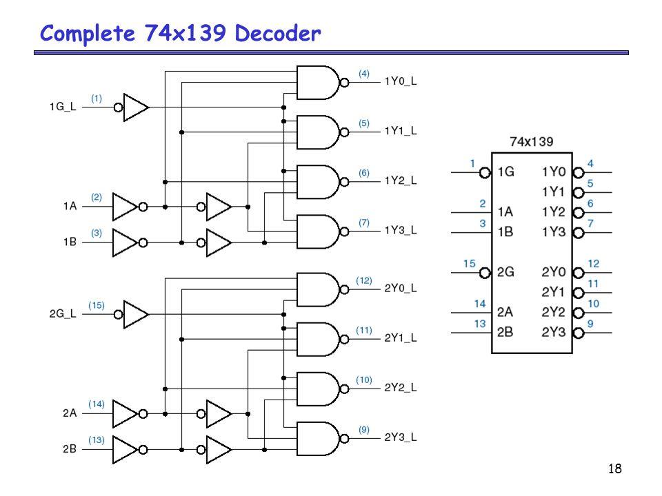 18 Complete 74x139 Decoder