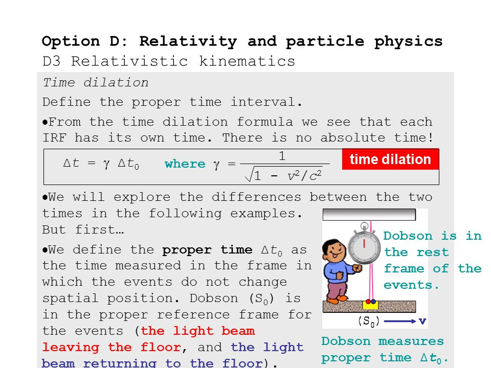 """Time dilation Derive the time dilation formula.  According to Einstein """"The speed of light c is the same in all inertial reference frames."""