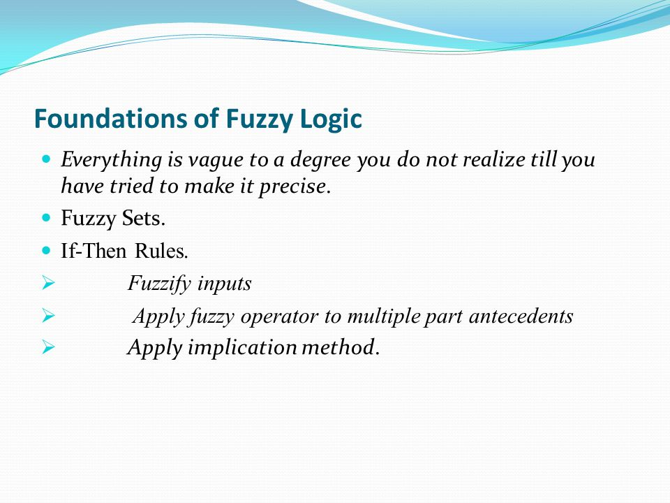 Foundations of Fuzzy Logic Everything is vague to a degree you do not realize till you have tried to make it precise.
