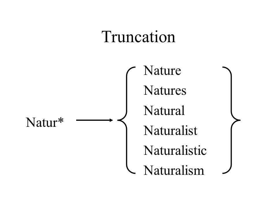 Truncation Natur* Nature Natures Natural Naturalist Naturalistic Naturalism