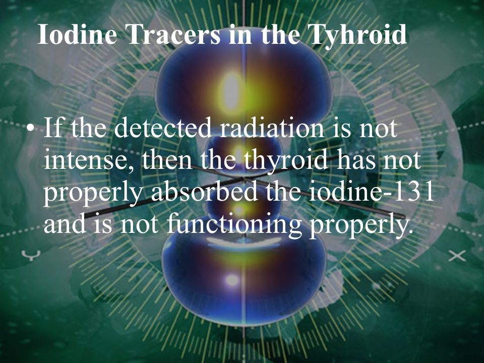 Iodine Tracers in the Tyhroid The beta particles are absorbed by the surrounding tissues, but the gamma rays penetrate the skin. The emitted gamma ray