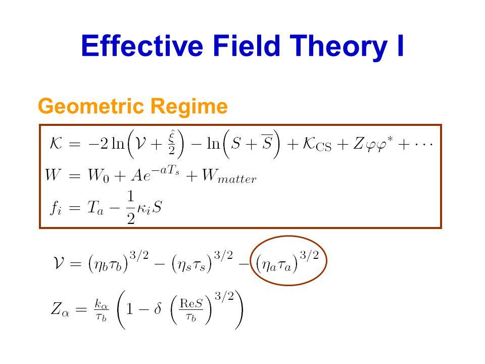 Effective Field Theory I Geometric Regime