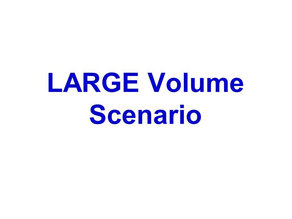 LARGE Volume Scenario