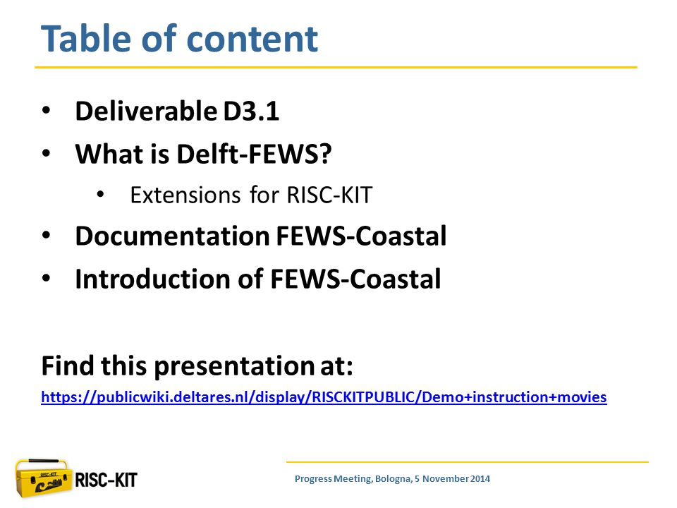 Deliverable D3.1 What is Delft-FEWS.